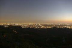Los- Angelesnacht Stockfoto