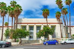 United States Post Office on Hollywood Boulevard in Hollywood. Los Angelos, California, USA - September 04, 2018: United States Post Office on Hollywood royalty free stock photography