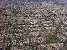 Los Angels view from the air. Los Angeles view from the air in the afternoon Stock Image