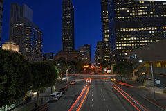 Los Angles by night. Street Los Angles By Night Royalty Free Stock Photos
