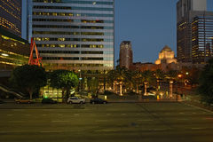Los Angles by night. Street Los Angles By Night Royalty Free Stock Photography