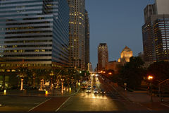 Los Angles by night. Street Los Angles By Night Royalty Free Stock Photo