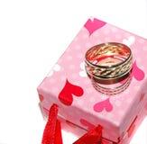 Los anillos de bodas Imagen de archivo