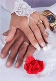 Los anillos de WeddingImagen de archivo
