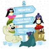 Los animales del norte acercan a la muestra del hielo