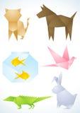 Los animales domésticos se hacen del papel Foto de archivo libre de regalías