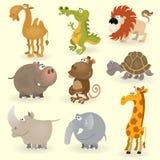 Los animales salvajes fijaron #1 stock de ilustración