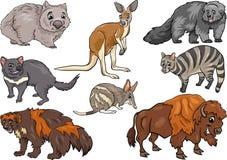 Los animales salvajes fijaron el ejemplo de la historieta Imágenes de archivo libres de regalías