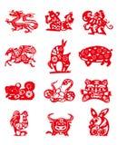 Animales del calendario chino Fotos de archivo