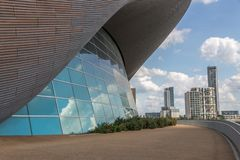 Los Aquatics se centran, reina Elizabeth Olympic Park fotografía de archivo libre de regalías