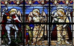 Los arcángeles (ventana de cristal manchada) Foto de archivo
