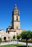Los Arcos. Church  St. Mary in Los Arcos  in northern Spain Stock Photo