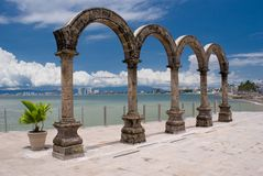 Los Arcos. Photo of Los Arcos arches in Puerto Vallarta, Mexico. Clipping path around Los Arcos Stock Photo
