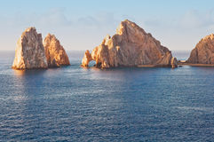 Los Arcos or. Los Arcos in Cabo San Lucas, Mexico bathed in warm sunlight Stock Photography