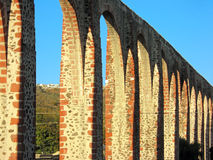 Los Arcos Aqueduct in Queretaro, Mexico. royalty free stock photography