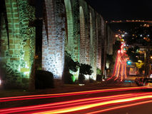 Los Arcos Aqueduct in Queretaro, Mexico. Stock Photography