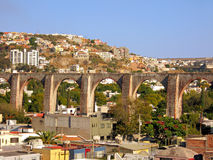 The Los Arcos (aqueduct) of Queretaro, Mexico. Stock Image