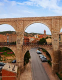 Los Arcos aqueduct in summer Royalty Free Stock Images