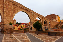 Los Arcos aqueduct. Teruel Stock Photo