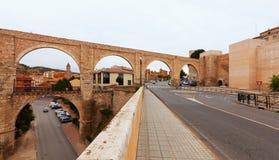 Los Arcos aqueduct. Teruel, Aragon Stock Image