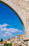 Los Arcos Aqueduct in Teruel Old Town, Aragon Stock Image