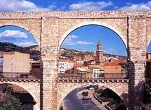 Los Arcos Aqueduct, Teruel. Stock Photography