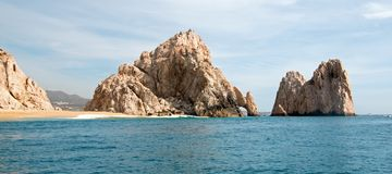 Los Arcos / The Arch at Lands End as seen from the Pacific Ocean at Cabo San Lucas in Baja California Mexico. BCS Stock Photography