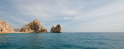Los Arcos / The Arch at Lands End as seen from the Pacific Ocean at Cabo San Lucas in Baja California Mexico. BCS Royalty Free Stock Photo
