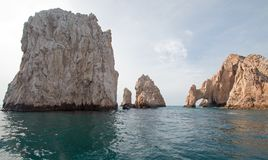 Los Arcos / The Arch at Lands End as seen from the Sea of Cortes at Cabo San Lucas in Baja California Mexico. BCS Stock Photo