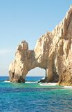 Los Arcos at Cabo San Lucas, Mexico III. Los Arcos, or the Arches, at Cabo San Lucas, Mexico.  This connects the Sea of Cortez with the Pacific Ocean on the tip Royalty Free Stock Image