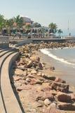 Los Arcos e Malecón a Puerto Vallarta, Messico fotografia stock libera da diritti