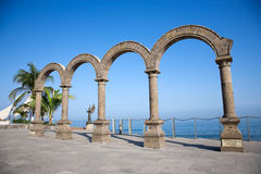Los Arcos located in Puerto Vallarta Stock Photo