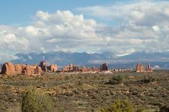 Los arcos parque nacional, Utah, los E.E.U.U. fotos de archivo libres de regalías