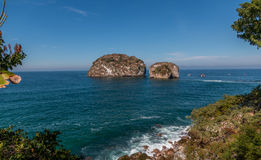 Los Arcos , Puerta Vallarta. Los Arcos islands, Puerta Vallarta are very popular destinations for tourists and snorkeling Royalty Free Stock Photography
