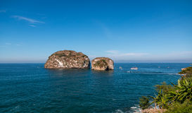 Los Arcos , Puerta Vallarta. Los Arcos islands, Puerta Vallarta are very popular destinations for tourists and snorkeling Stock Image