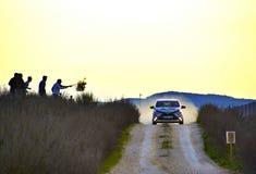 Los Arcos, Spagna - 27 marzo 2015: Volkswagen d'accelerazione nel Los Immagini Stock Libere da Diritti