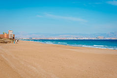 Los Arenales del Sol beach. Spain Royalty Free Stock Images