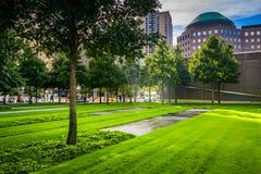 Los argumentos conmemorativos del 11 de septiembre en el Lower Manhattan, Nueva York Fotografía de archivo libre de regalías
