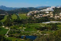 Los Arqueros golf. Is a mixed course situated only 10 minutes from Marbella, Spain. It is set among mountains of the Sierra de Ronda Stock Images