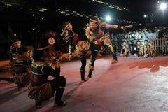 Los artistas marciales dan una demostración Fotos de archivo
