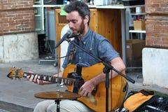 Los artistas se realizan en la calle Festival de los Buskers imagen de archivo libre de regalías
