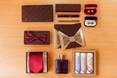 Los assessories de los hombres para la ropa clásica Imagen de archivo libre de regalías