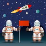 Los astronautas Fotografía de archivo