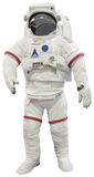 Los astronautas se adaptan a blanco aislado Fotos de archivo