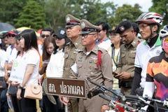 Los atletas aficionados de diversos grupos en Pluak Daeng participaron en la actividad Foto de archivo libre de regalías
