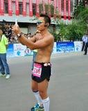 Los atletas toman las fotos Fotos de archivo libres de regalías