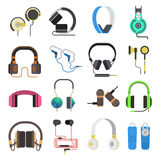 Los auriculares vector el sistema Imagenes de archivo