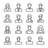 Los avatares humanos alinean iconos ilustración del vector