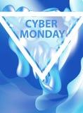 Los aviadores cibernéticos de lunes, plantillas para su cartel diseñan, invitación, bandera Oferta especial, descuentos Ilustraci Foto de archivo