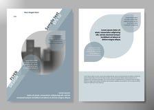Los aviadores de Inimal divulgan la plantilla de la cartera de la disposición del cartel de la revista comercial Vector de la pla Imagen de archivo